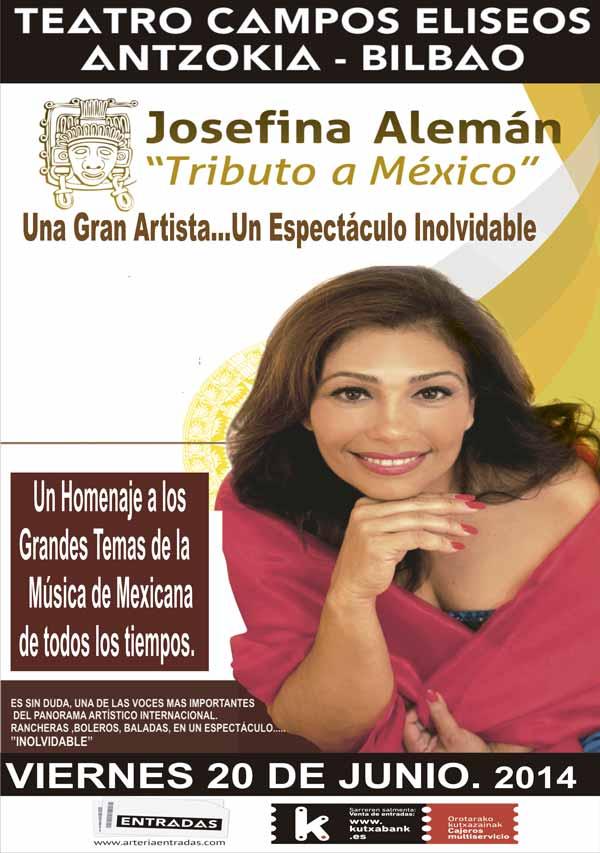 Josefina alem n tributo a m xico teatro campos - Restaurante teatro campos ...